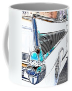 1957 Chevrolet Bel Air Art White Coffee Mug
