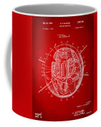 1958 Space Satellite Structure Patent Red Coffee Mug
