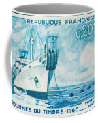 1960 Day Stamp Installation Of A Submarine Cable Coffee Mug