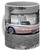 1960 Thunderbird Bw Coffee Mug