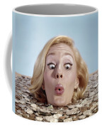 1960s Blond Woman Funny Facial Coffee Mug
