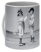 1960s Boy Little Leaguer Pitcher Coffee Mug