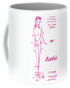 1961 Barbie Doll Patent Art 3 Coffee Mug