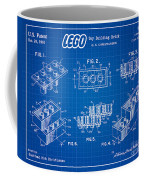 1961 Lego Building Blocks Patent Art 3 Coffee Mug