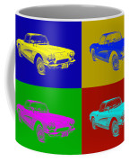 1962 Chevrolet Corvette Convertible Pop Art Coffee Mug
