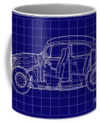 1963 Volkswagon Beetle Blueprint Coffee Mug