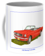 1965 Ford Mustang Convertible Pony Car Coffee Mug
