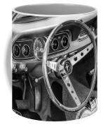 1966 Mustang Dashboard Bw Coffee Mug
