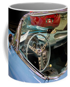 1967 Blue Corvette-interior And Wheel Coffee Mug