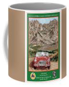 Mountain Rallying In A 1968 M G B  Coffee Mug