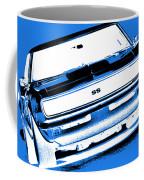 1969 Chevy Camaro Ss - Blue Negative Coffee Mug