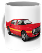 1969 Shelby Cobra Gt 500 Retro Sports Car Coffee Mug