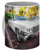 1970 Cadillac Coupe Deville Convertible Painted  Coffee Mug