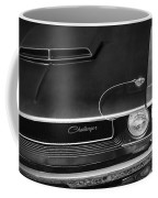 1970 Dodge Challenger T/a In Black And White Coffee Mug