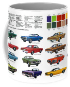 1970 Dodge Coronet Models And Colors Coffee Mug
