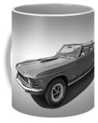 1970 Mach 1 Mustang 351 Cleveland In Black And White Coffee Mug