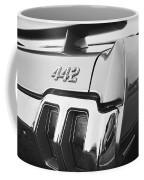 1970 Olds 442 Black And White Coffee Mug