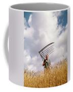 1970s Man Farmer Field Hand Wearing Coffee Mug