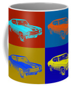 1971 Chevrolet Chevelle Ss Pop Art Coffee Mug