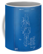 1973 Space Suit Patent Inventors Artwork - Blueprint Coffee Mug by Nikki Marie Smith