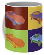 1975 Corvette Stingray Sportscar Pop Art Coffee Mug