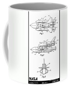 1975 Nasa Space Shuttle Patent Art 3 Coffee Mug