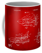 1975 Space Shuttle Patent - Red Coffee Mug