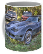 1977 Corvette Black Coffee Mug
