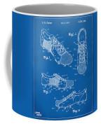 1980 Soccer Shoes Patent Artwork - Blueprint Coffee Mug