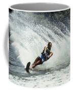 1980s Man Waterskiing Making Fan Coffee Mug