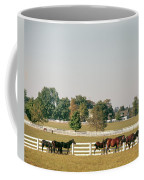 1990s Small Group Of Horses Coffee Mug