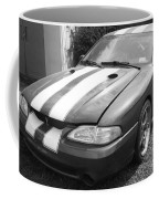 1996 Mustang Cobra In Black And White Coffee Mug