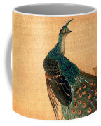 19th C. Japanese Peacock Coffee Mug