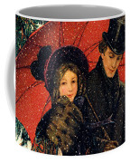 19th C. Young Couple In Winter Coffee Mug