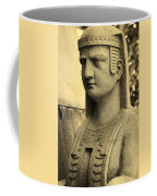 19th Century Granite Stone Sepia Sphinx Bust Poster Look Usa Coffee Mug