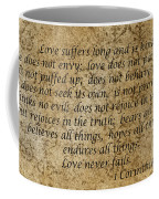 1st Corinthians 13 Verses 4 - 7  Coffee Mug