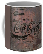 Coca Cola Sign Grungy Retro Style Coffee Mug