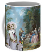 Japanese Spitz Art Canvas Print Coffee Mug