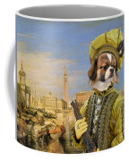 Tibetan Spaniel Art Canvas Print Coffee Mug