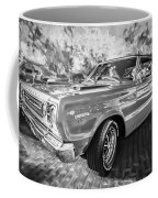 1967 Plymouth Belvedere Gtx 440 Painted Bw Coffee Mug
