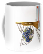 3d Rendering Of Planet Earth Falling Coffee Mug by Leonello Calvetti