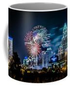 4th Of July Firework Over Charlotte Skyline Coffee Mug