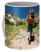 A Backpacker Hiking Coffee Mug