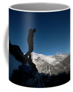 A Man Hikes The Boott Spur Link Coffee Mug
