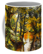 A River Landscape In Springtime Coffee Mug