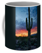 A Saguaro Sunset  Coffee Mug