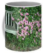 A Seat By The Flowers Coffee Mug