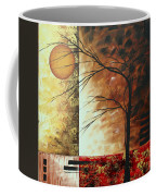 Abstract Gold Textured Landscape Painting By Madart Coffee Mug