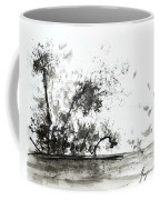 Modern Abstract Black Ink Art Coffee Mug