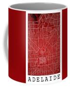 Adelaide Street Map - Adelaide Australia Road Map Art On Colored Coffee Mug